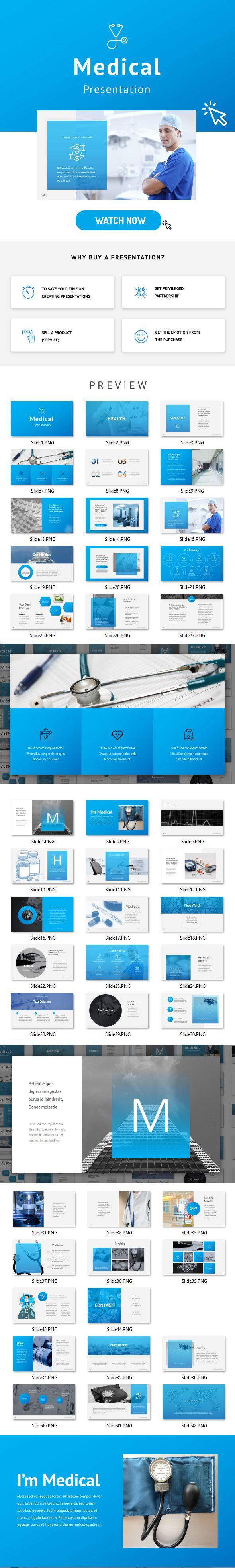 medical google slides — google slides pptx #company #blue, Presentation templates