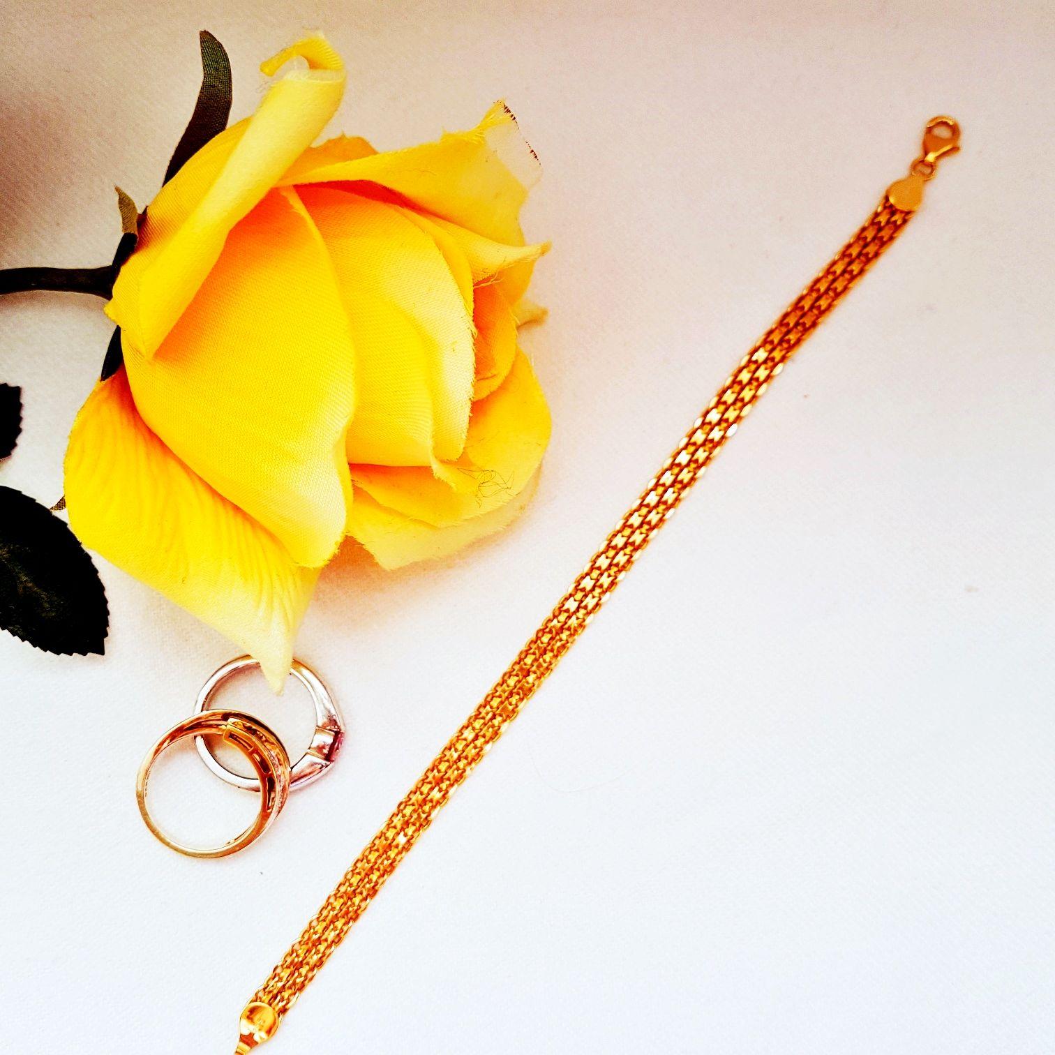 Armkettechen und Kette aus gold