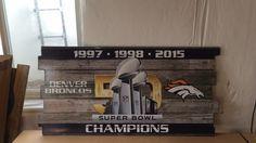 Denver Broncos sign Broncos sign Broncos Wall art by RadGraffix