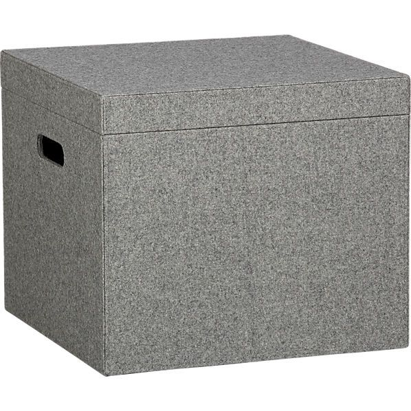Felt File Box - Made with wool and viscose men's wear felt.