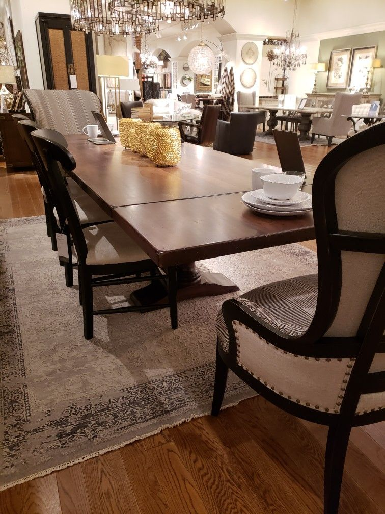 Large Accent Chairs At Dining Table Home Decor Dining Table Table