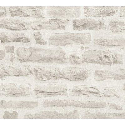 Williston Forge Mcgrail Wood Stone Brick 33 L X 21 W Wallpaper Roll Colour White In 2020 Brick Effect Wallpaper Stone Wallpaper Brick Wallpaper