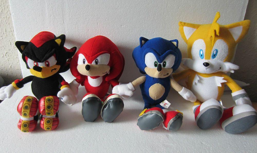 Sonic The Hedgehog Shadow Tails Knuckles Soft Toys Plush Set Bundle Job Lot Toys Sonic The Hedgehog Soft Toy