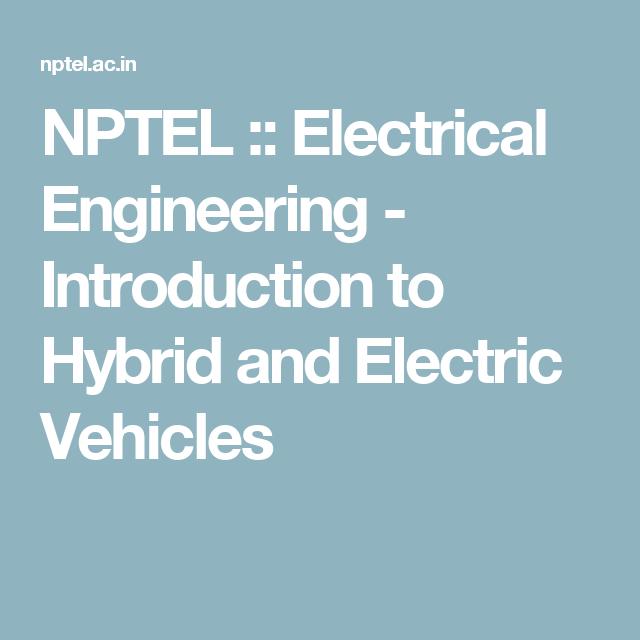 NPTEL ELECTRICAL ENGINEERING PDF DOWNLOAD
