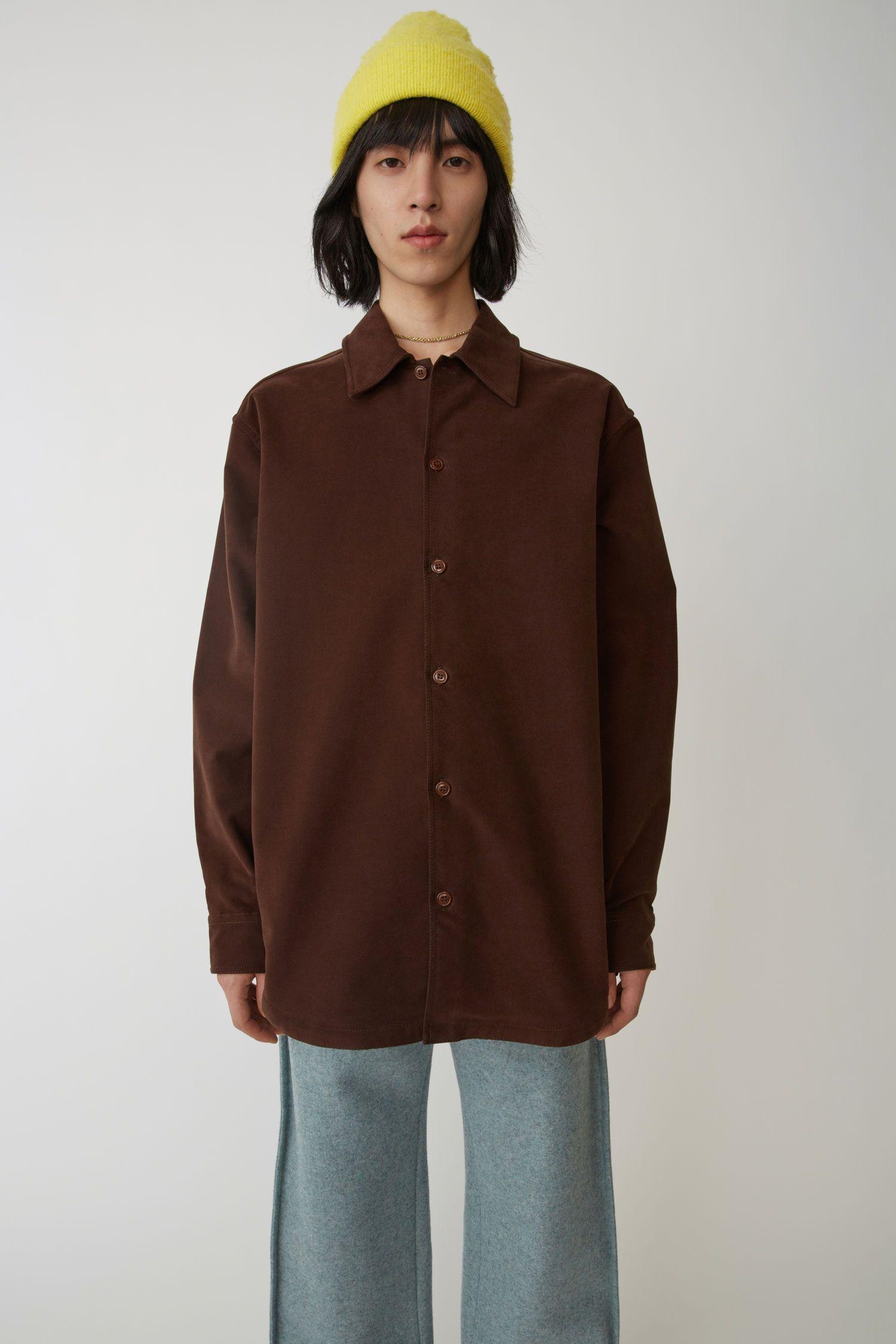 e8a86d8ee ACNE STUDIOS Minimal military shirt dark brown. #acnestudios #cloth ...