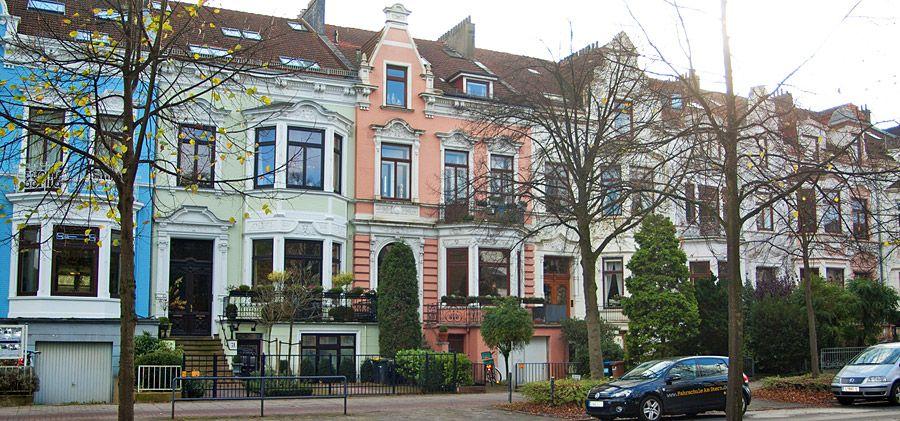 Bremen, Bremer Reihenhaus Reihenhaus, Fassadengestaltung