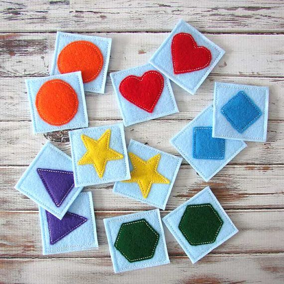 Memory Match Game, Educational Toy, Toddler Game - Handmade #felttoys