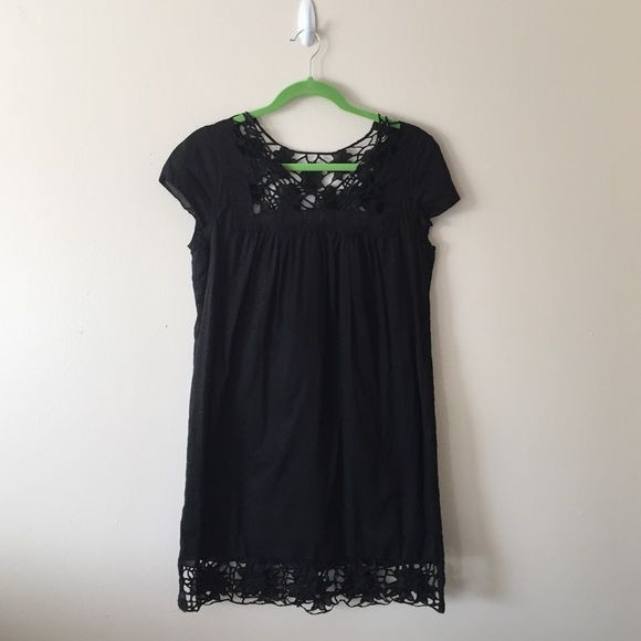 Black cotton shift dress Lined, 100% cotton, no stretch. NOT from Urban, actually from a store called Metropark...high quality dress! Urban Outfitters Dresses Mini