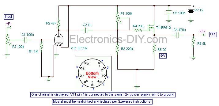 Hybrid Tube Headphone Amplifier | DIY | Headphone amp, Diy ...