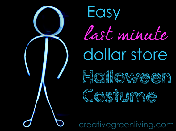 easy last minute halloween costume glowing stick man - Glow Sticks For Halloween