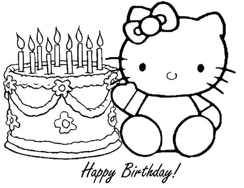 Birthday Day Cake Free Coloring Pages Hello Kitty Colouring Pages Hello Kitty Coloring Birthday Coloring Pages