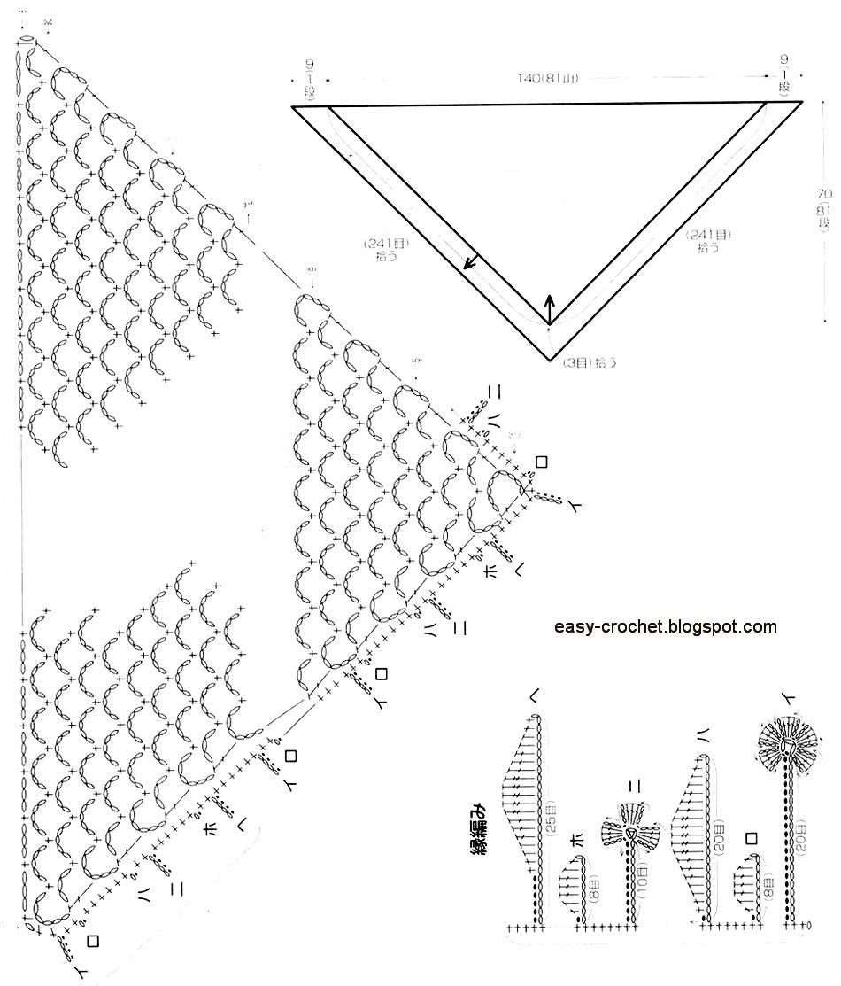 Stylish Easy Crochet: Easy Crochet Lace Shawl Pattern | crochet ...