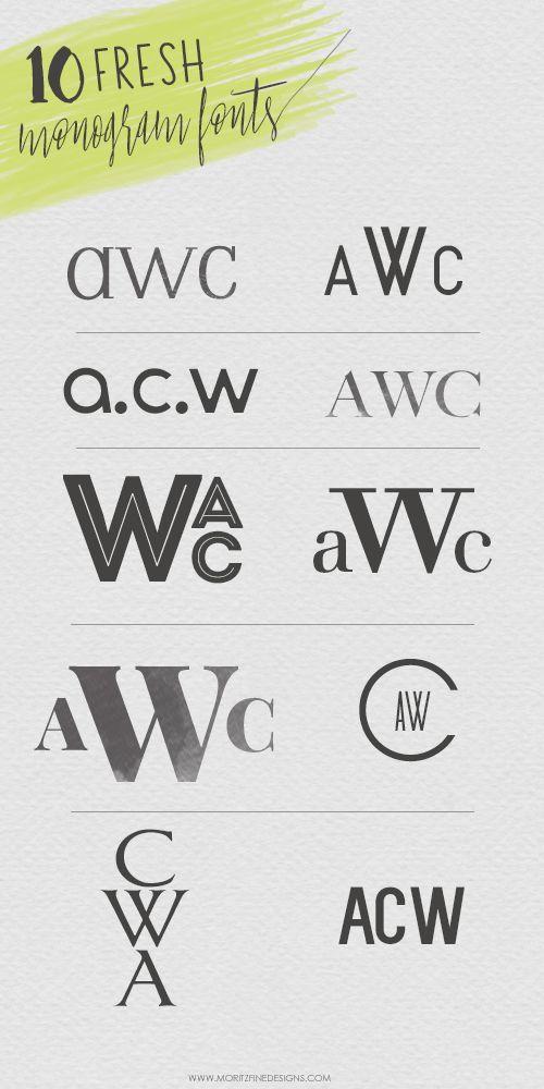 Download Fresh New Monogram Fonts | Monogram fonts, Cricut fonts ...