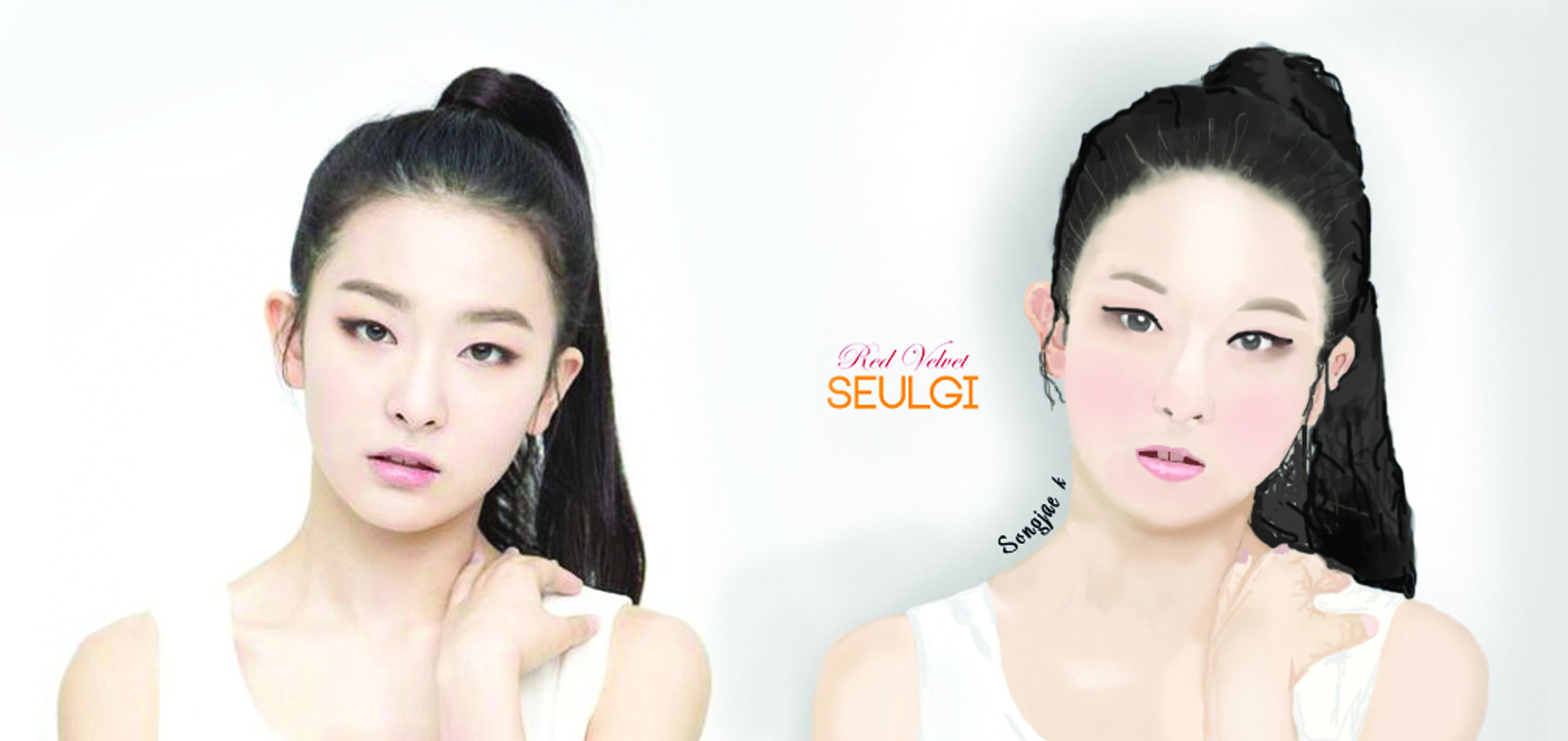 Seulgi red velvet by using photoshop