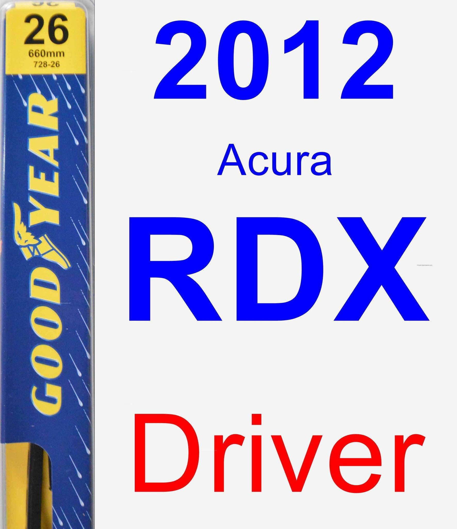 Driver Wiper Blade For 2012 Acura RDX - Premium