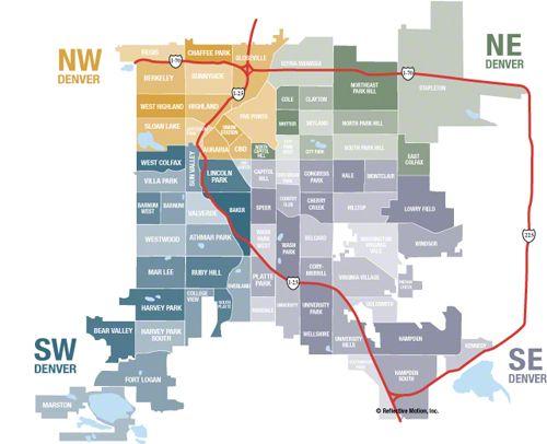 denver neighborhood map - Google Search | Back House | Denver ... on