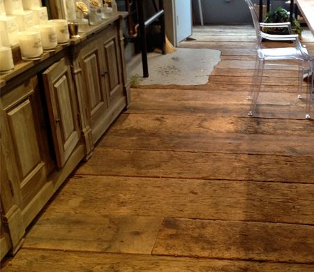 Rustic Wide Plank Wood Flooring Antique Barn Threshing Floor California Reclaimed Recycled