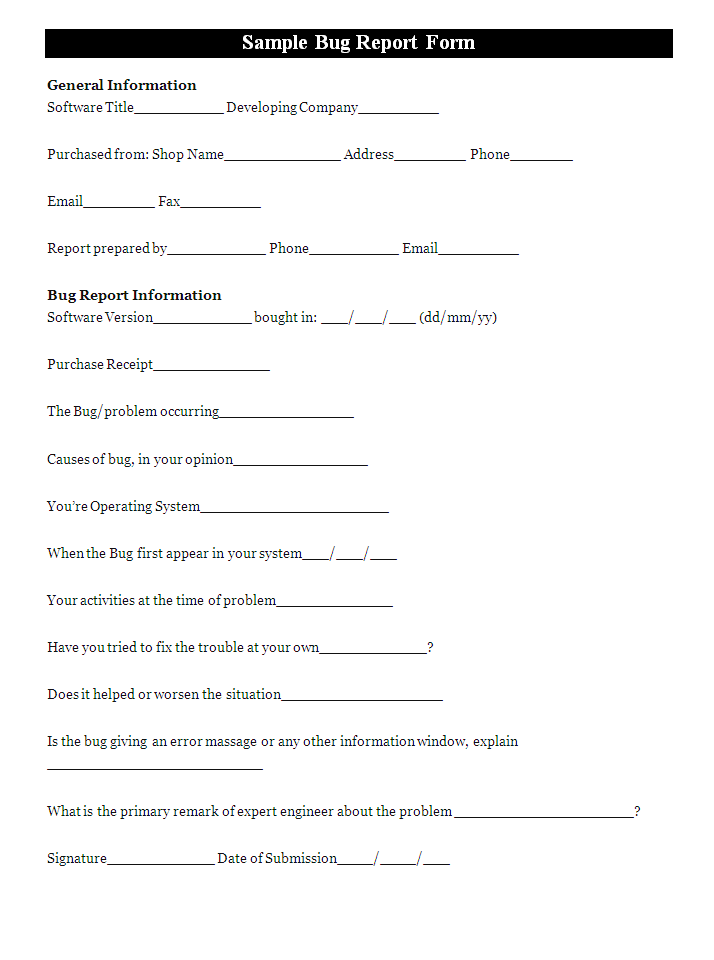 Computer Problem Report Form Template Sample Problem Report 6 Documents In  Pdf, Computer Problem Report Form Template Sample Problem Report A Bug  Report ...  Document Transmittal Form Template