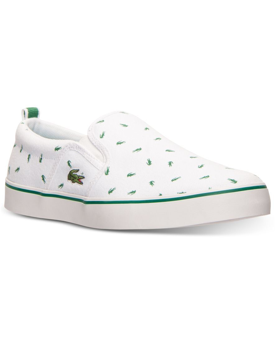 d855d3be3 Lacoste Boys  Gazon Slip Print Casual Sneakers from Finish Line