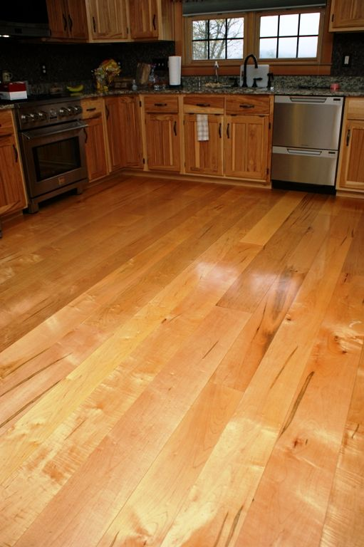 Natural Color Variation Adds Interest And Depth To This Red Maple Kitchen  Floor.