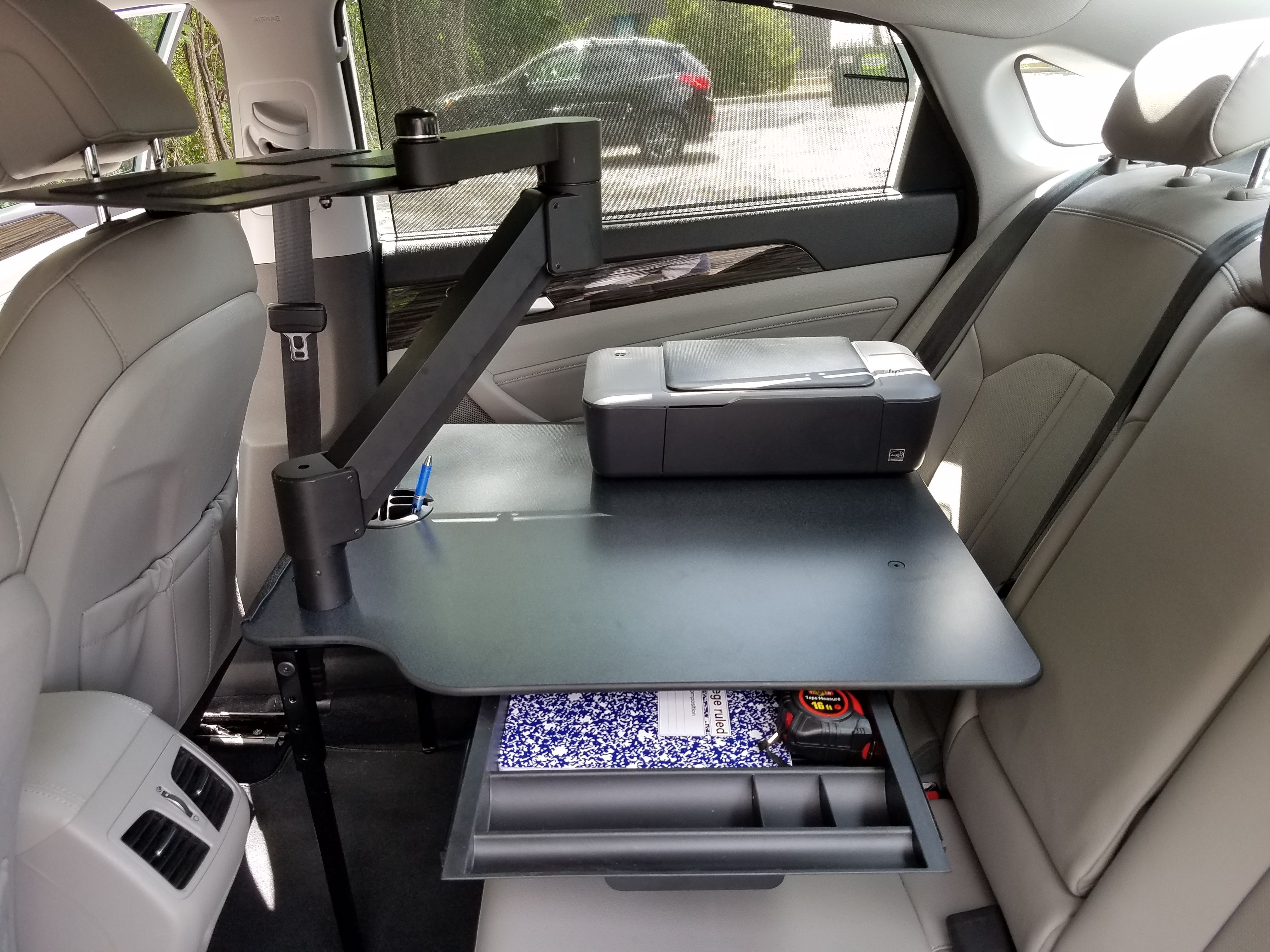 Great view of Ergnomic Solutions new sit-stand Car Desk. The ...
