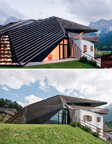 Best Pitched Roof '60S House Transformed With Timber Skin 640 x 480