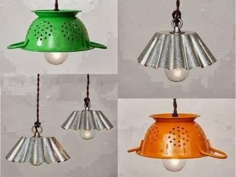 Lampade con colapasta fai da te fai da te lampadario cucina e
