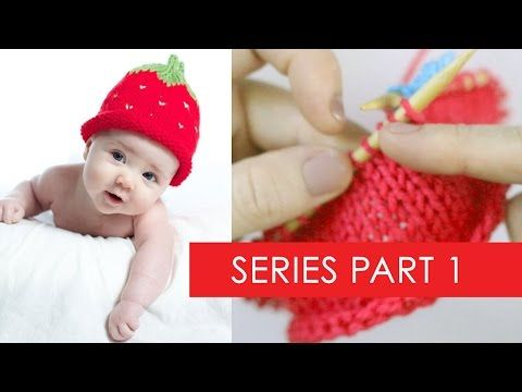 3a4740d37bf How to Knit a Strawberry Berry Baby Hat with Free Knitting Pattern + Video  Tutorials by Studio Knit