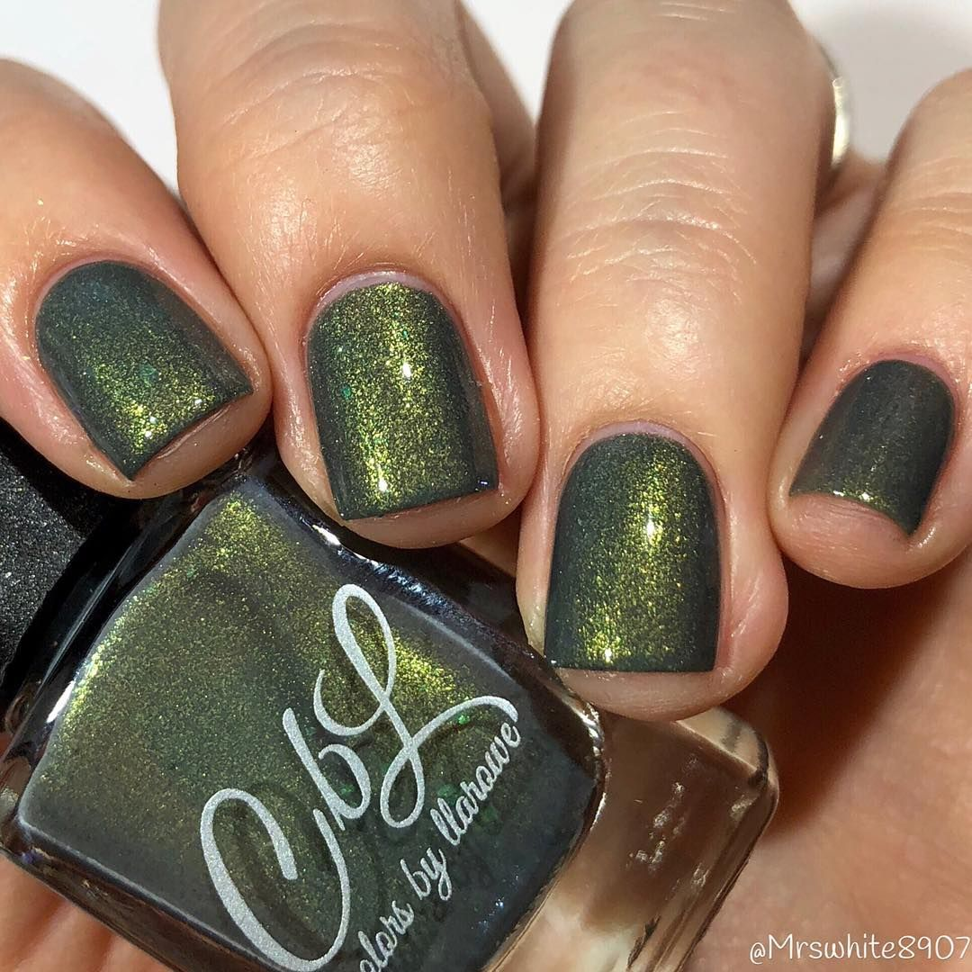 Colors by llarowe in Elephant Walk | #Dark Olive Green Shimmer #Nail ...