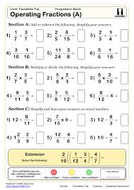 Maths Worksheets এর ছব র ফল ফল Math Fractions Worksheets Algebra Worksheets Ks3 Maths Worksheets