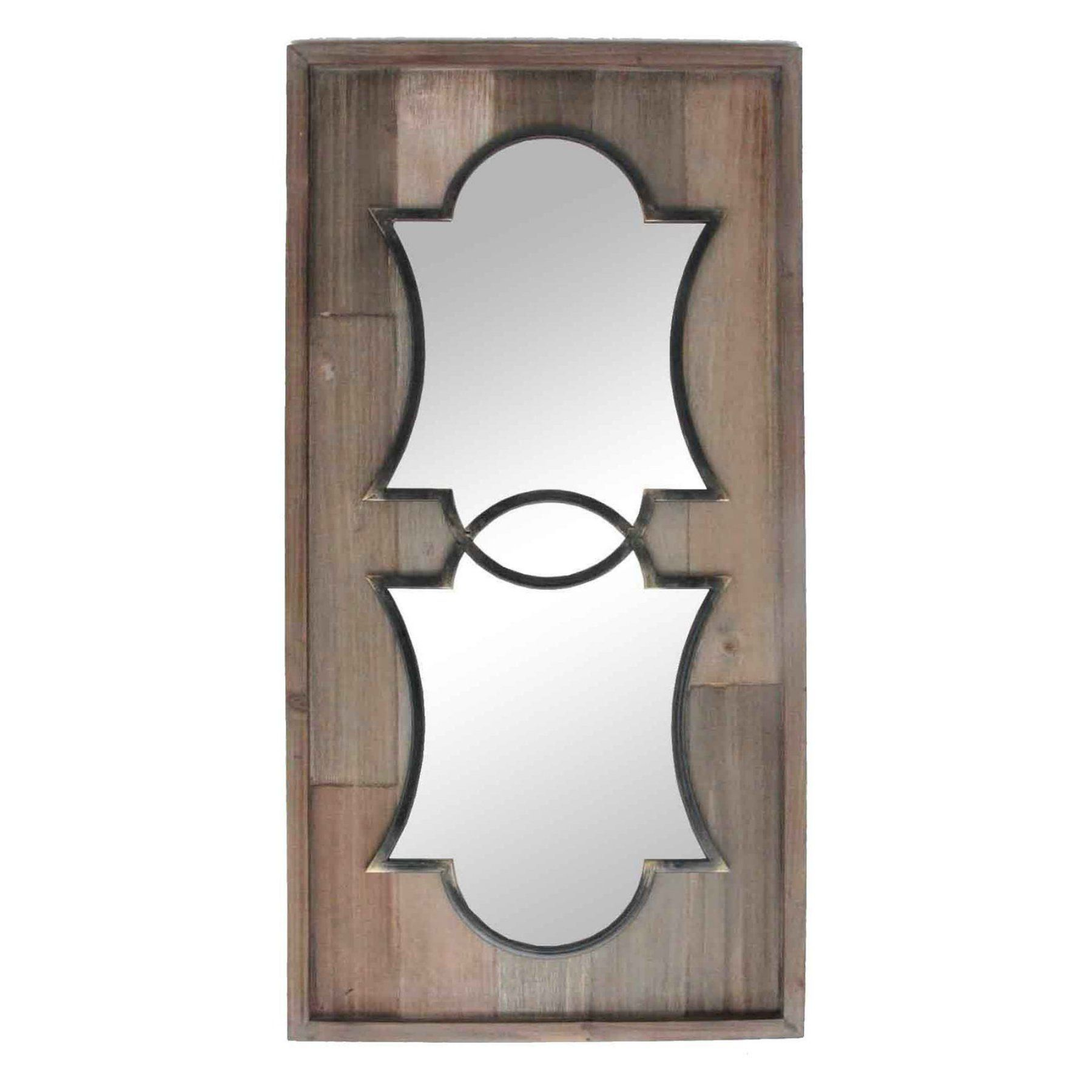 Sagebrook Home Decorative Cutout Wood Wall Mirror  11069