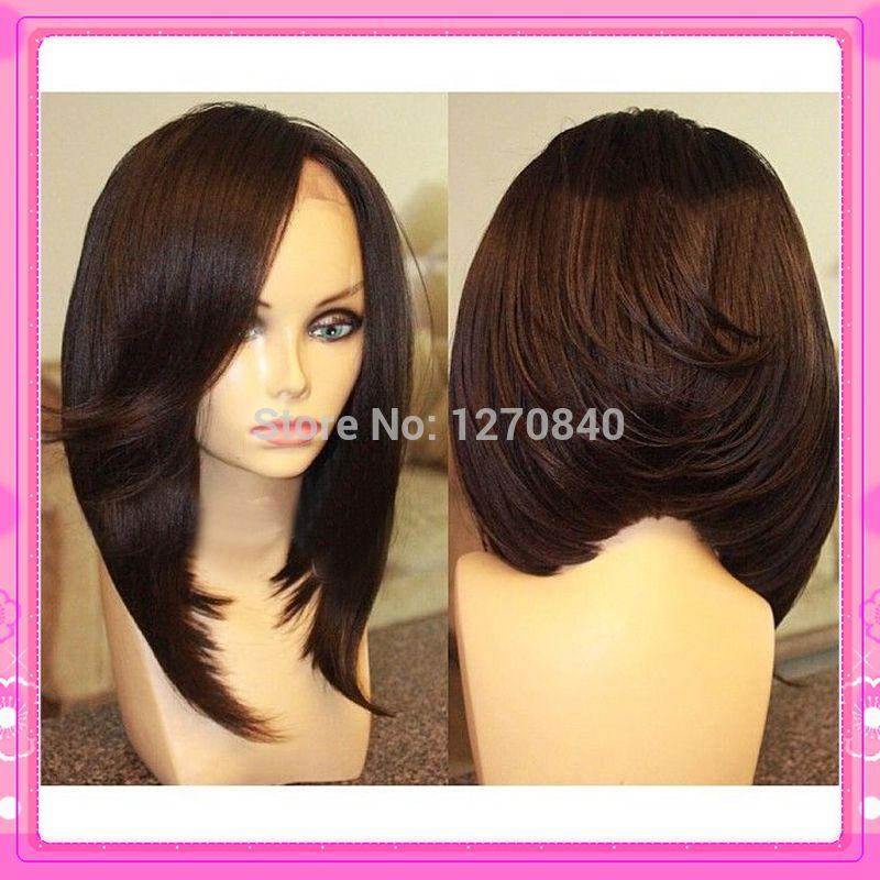 Fashion Unprocessed Virgin Brazilian Human Hair Bob Wig