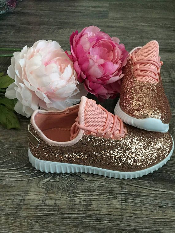 d6fefc700d4e0 Glitter Bomb Sneakers - Personalized Womens shoes - Rose Gold Tennis ...