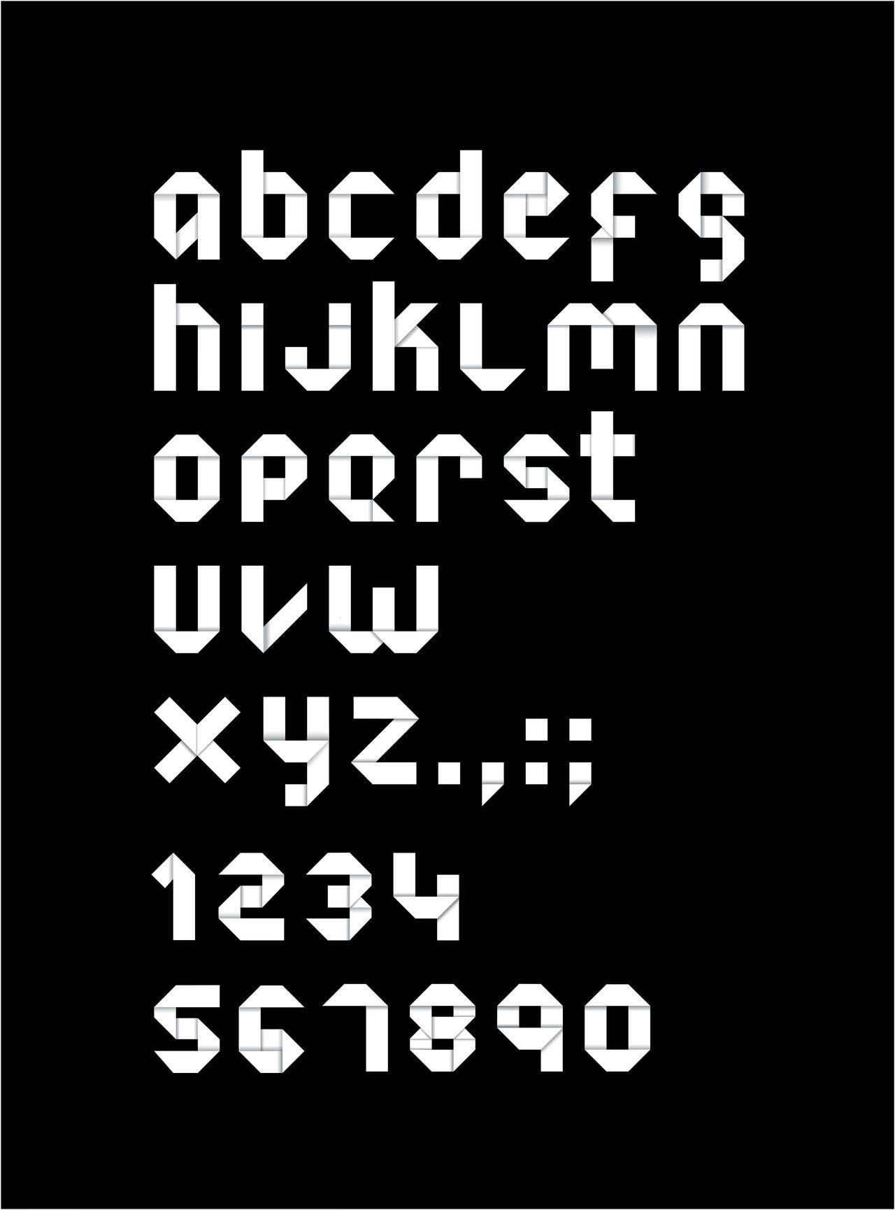 Typography Origami Font By Nicolas Korenchuk Via Behance This