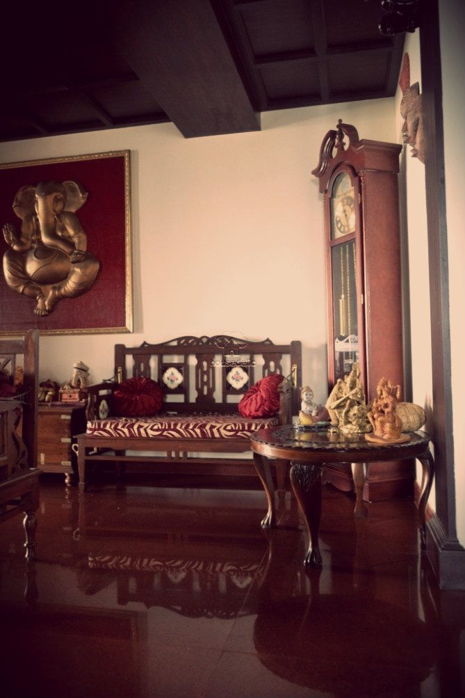 A traditional South Indian home with beautifully carved