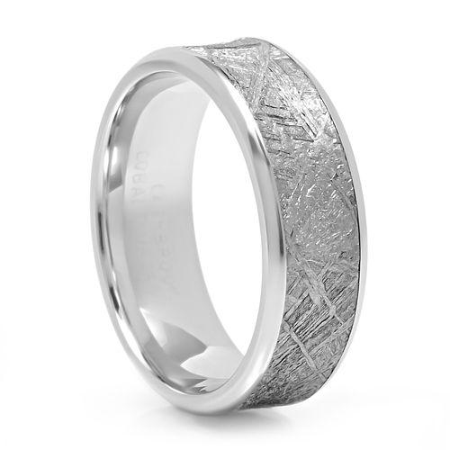 Best FUSION Cobalt u Meteorite Meteorite Wedding BandMeteorite