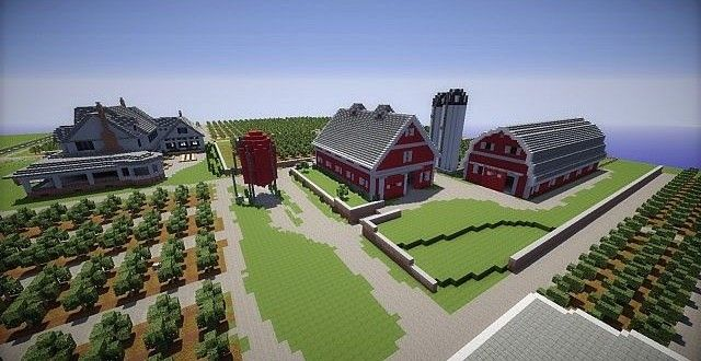 Farm house and red barns minecraft building inc also bailey   stuff rh co pinterest