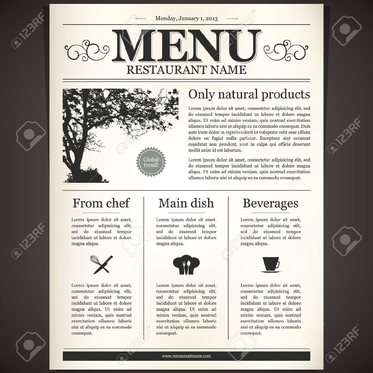 contemporary restaurant menu design - google search | self promotion