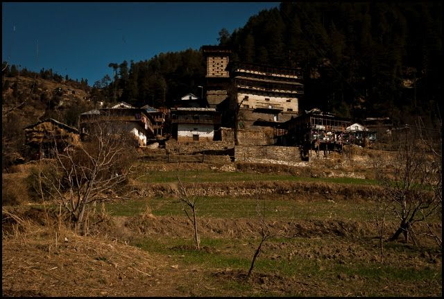of village idyll and traditional western himalayan architecture