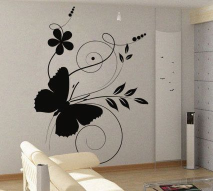 Pin By Guptha Rln On Murals Butterfly Wall Art Diy Wall Painting Decor Wall Art Diy Bedroom