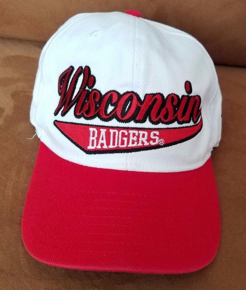 best sneakers a0785 43522 Wisconsin Badgers Script NCAA Hat white red Reebok Snapback cap  Reebok   WisconsinBadgers