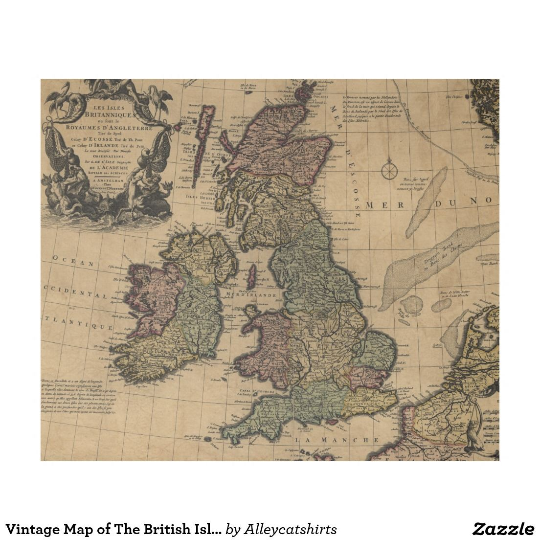 Vintage map of the british isles 1700s fleece blanket fleece vintage map of the british isles 1700s fleece blanket gumiabroncs Images
