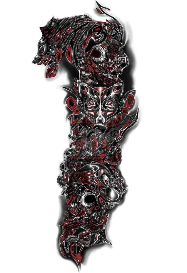 Mind Blowing Wolf Tribal Tattoo Stencil Wolf Tattoo Sleeve Sleeve Tattoos Tattoo Sleeve Designs
