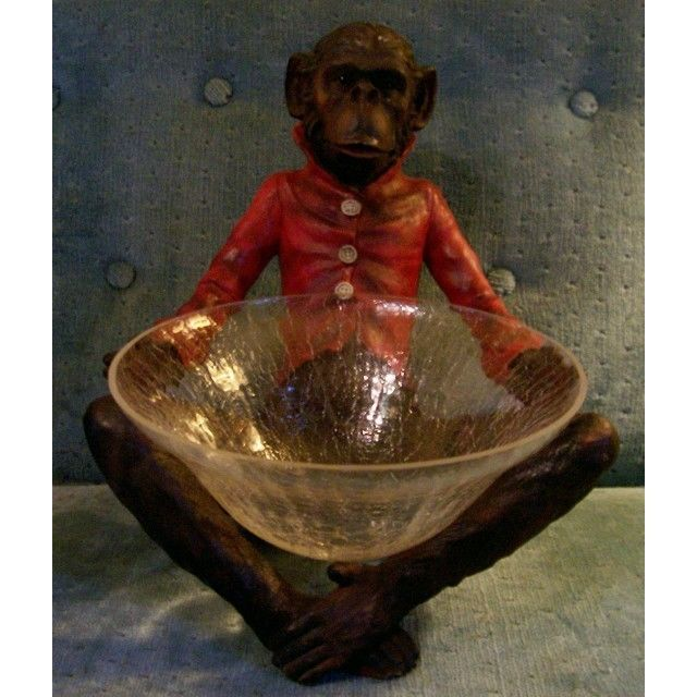 """Serving Bowl Monkey """"Butler"""" Stand Cute! Listing in the Serving Dishes,Cookware,Kitchen, Dining & Bar,Home & Garden Category on eBid United States 