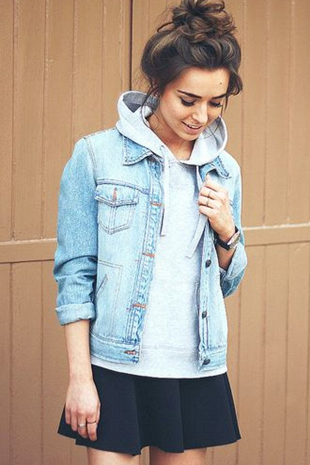 9cb038953b4 10 Ways to Style Your Denim Jacket in the Winter | Style - Denim ...