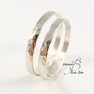 Photo of Wedding rings forged delicately white