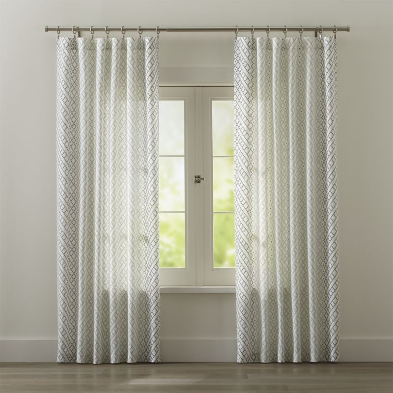 Cb Matte Silver 75 Dia X28 48 Curtain Rod Set Reviews Crate And Barrel Beige Curtains Elegant Curtains White Curtains