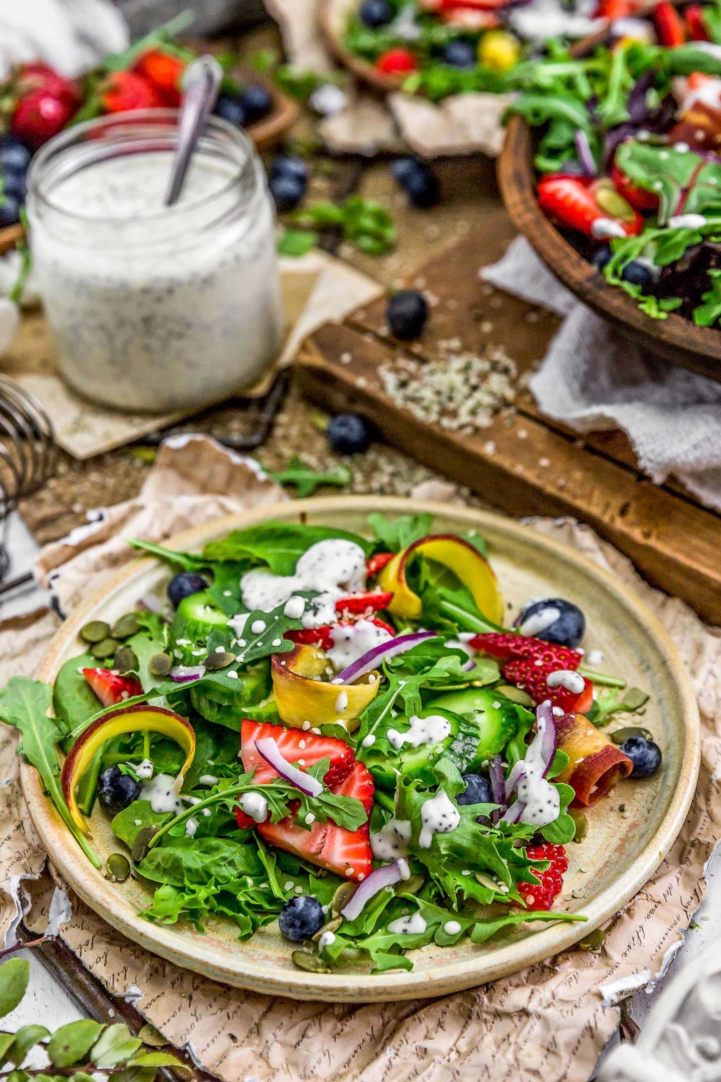 Vegan Lemon Poppy Seed Dressing Recipe Clean eating