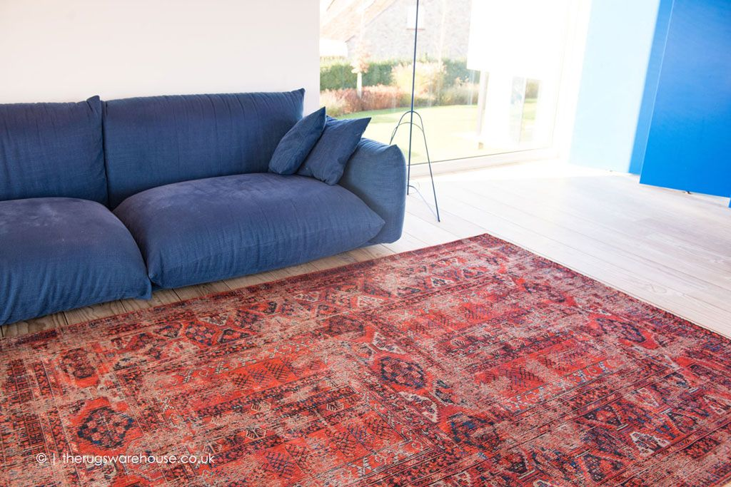New Agha Old Red Rug By Louis De Poortere A Hued