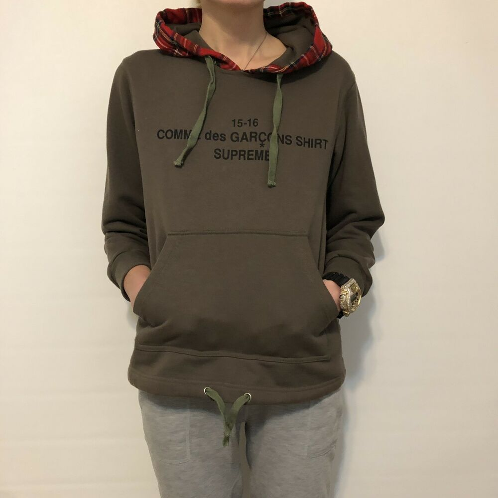 Supreme Comme Des Garcons Hoodie Medium M Olive Red Fashion Clothing Shoes Accessories Menscloth Comme Des Garcons Hoodie Hoodies North Face Nuptse Jacket